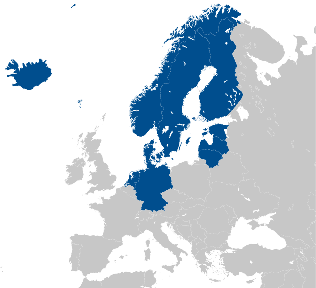 EOSC-Nordic participating countries